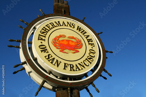Foto op Canvas San Francisco San Francisco Fishermans Wharf Sign
