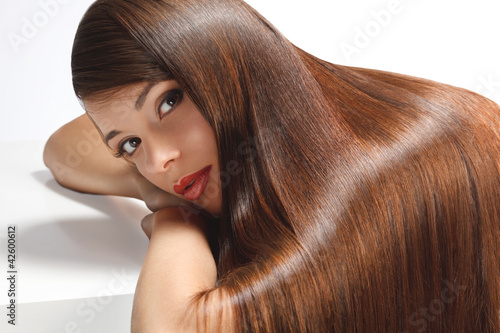 Fotografie, Obraz  High quality image. Woman with smooth hair