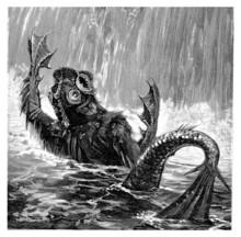 Beautiful Fantasy Aquatic Monster