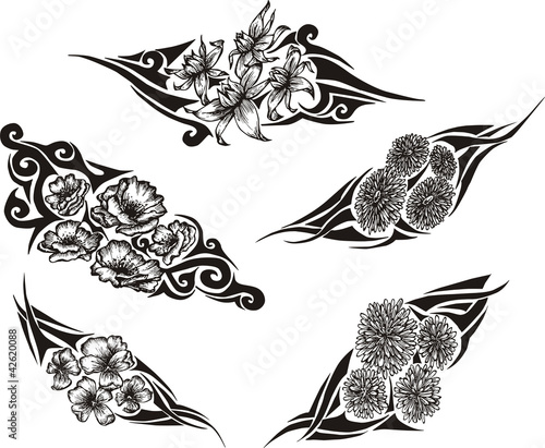 05a4f791a Tribal Flower Tattoos - Buy this stock vector and explore similar ...