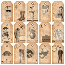 Vintage Tags: Fashion & Accessories - Set Of 15 Detailed Designs