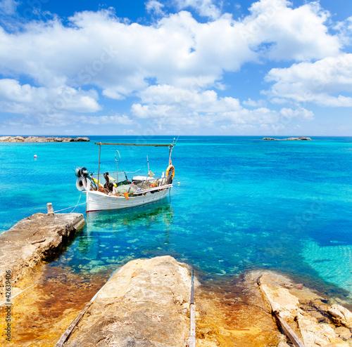 Foto-Leinwand - Els Pujols beach in Formentera (von lunamarina)