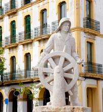 Eivissa Ibiza Town Statue Dedi...