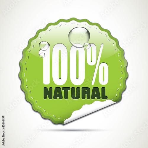 Plakaty ekologiczne   100-naturalna-blyszczaca-naklejka