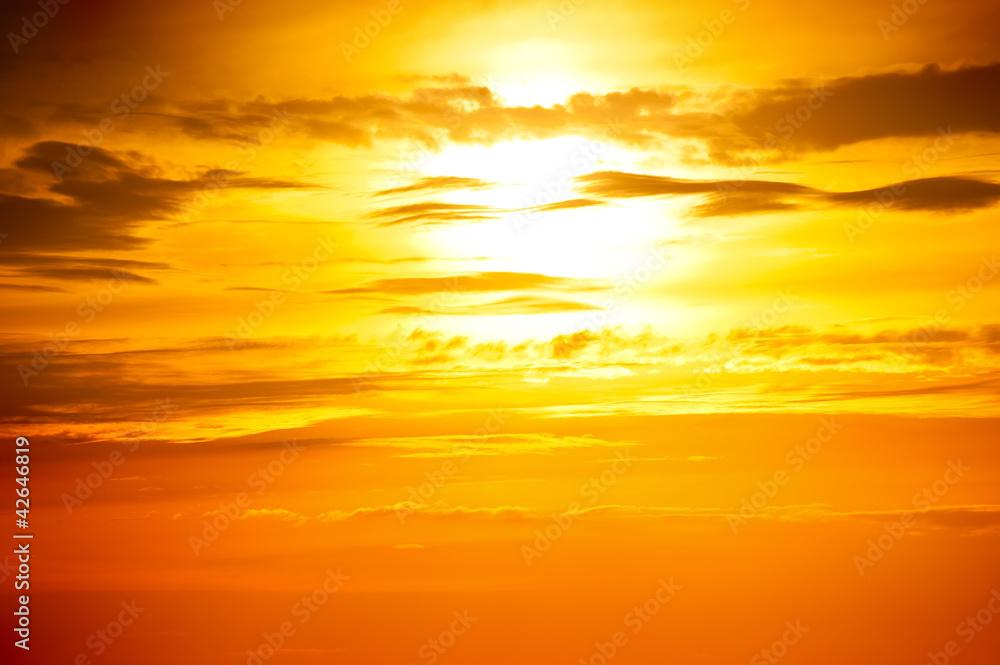 Fototapeta sunset photo