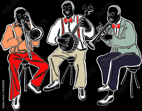 Poster Muziekband Jazz band