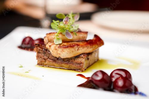 Fotobehang Klaar gerecht Foie gras