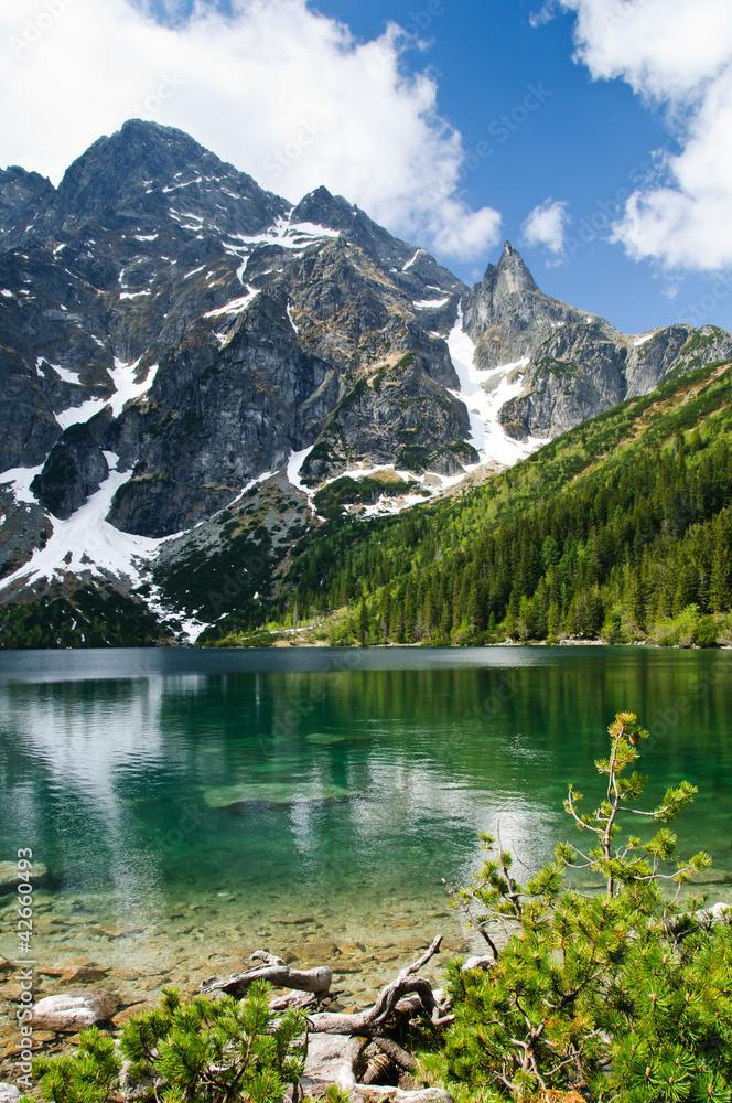 Polish Tatra mountains Morskie Oko lake