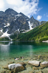 Fototapeta Morskie Oko mountain lake in Polish Tatra mountains