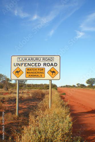 Poster Oceanië unfenced road