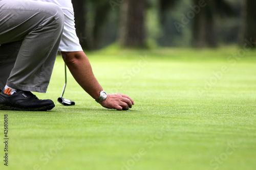 Obraz na plátně golfeur