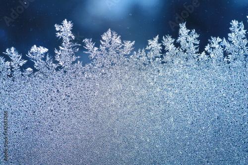 Fotografie, Obraz  ice frost window
