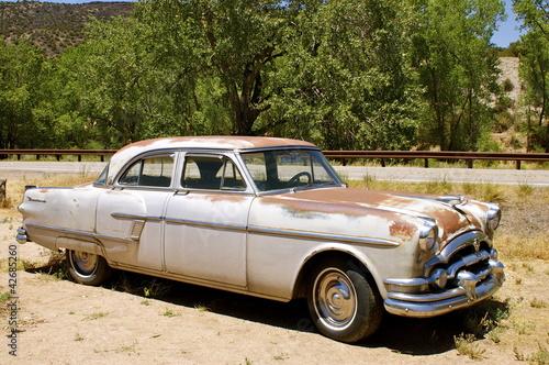 Türaufkleber Autos aus Kuba Rusting Vintage American Car