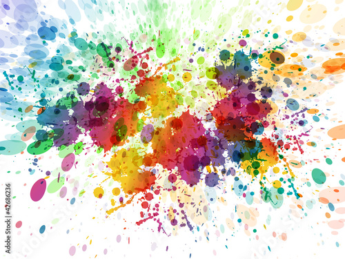 Tuinposter Vormen raster version of Abstract colorful splash background