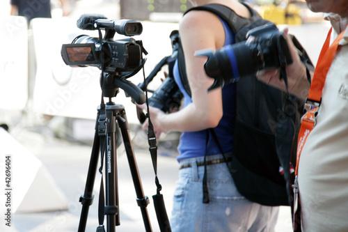 Reporter beim Event