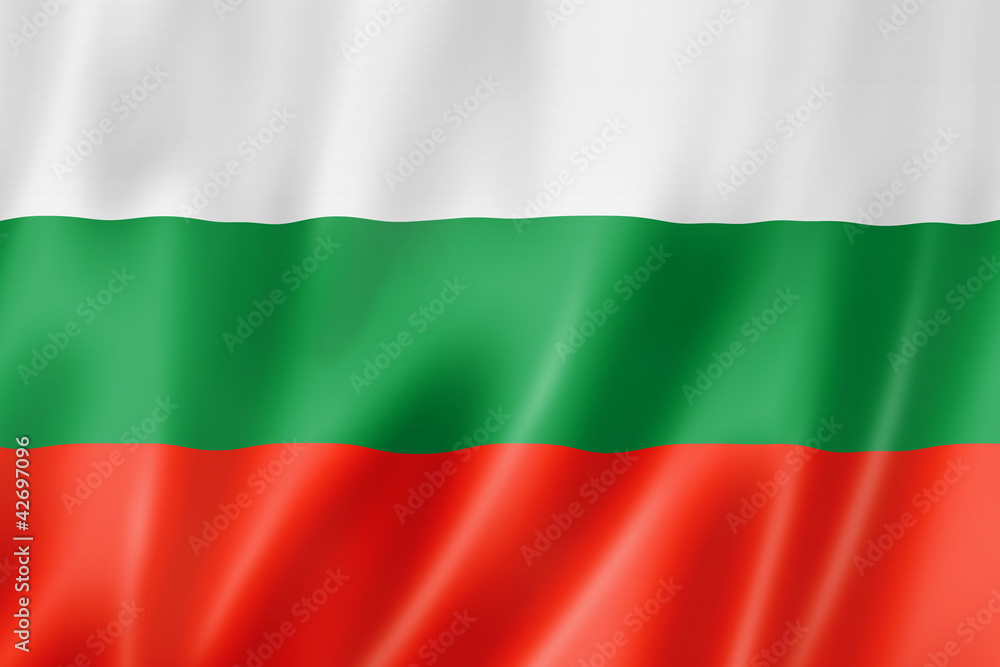 Fototapety, obrazy: Bulgarian flag