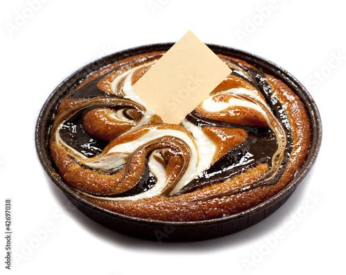 Tuinposter Koekjes gâteau marbré et étique