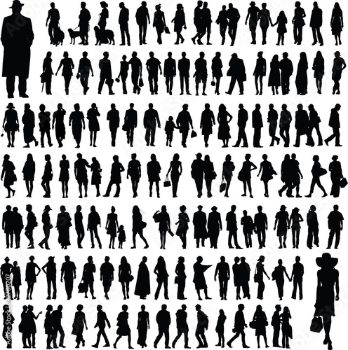 Obraz people silhouettes - fototapety do salonu