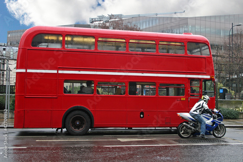 Poster Londres bus rouge London bus