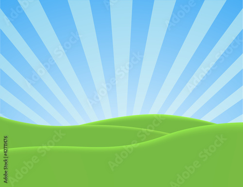 Foto op Aluminium Blauw Nature Landscape Background