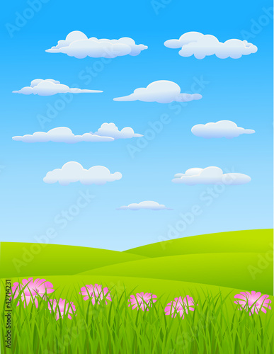 Poster Lime groen Nature Landscape Background