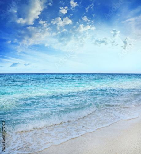 Printed kitchen splashbacks Light blue blue sea background