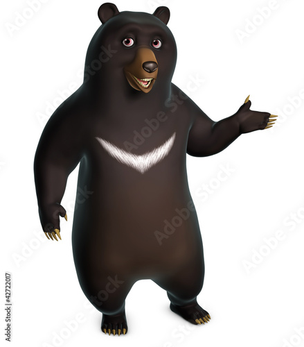 Poster de jardin Doux monstres black bear