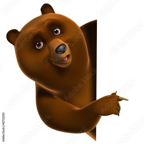 Foto op Aluminium Sweet Monsters Brown grizzly bear
