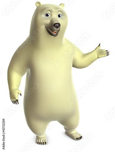 Garden Poster Sweet Monsters white bear