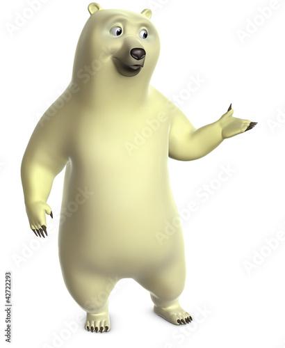Poster de jardin Doux monstres cartoon polar bear