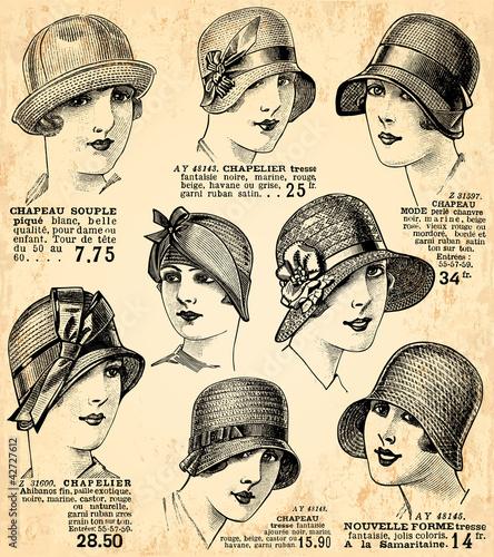 Fotografia  fond chapeaux