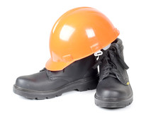 Working Boots And Helmet
