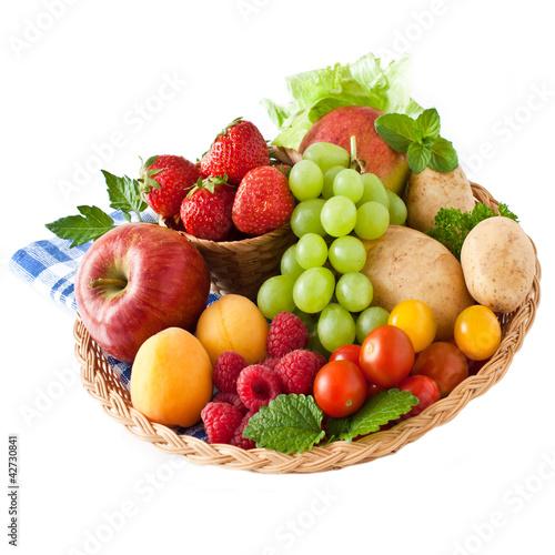 Keuken foto achterwand Vruchten Obst und Gemüse