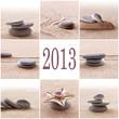 Leinwandbild Motiv 2013, collage carré zen