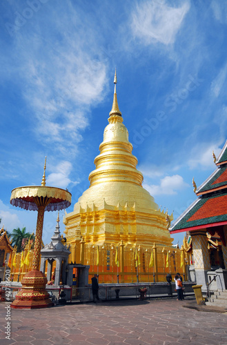 Photo  pagoda in temple north of thailand