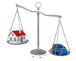 Home and car balance scales