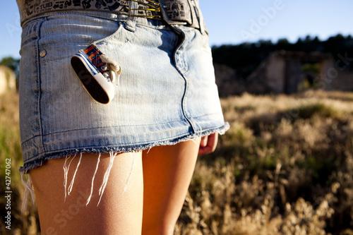 La pose en embrasure Vache Minifalda