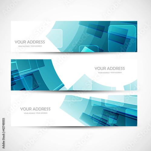 Fototapeta abstract colorful header vector set illustration obraz