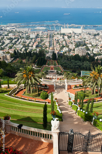 Fotobehang Midden Oosten The Bahai Gardens in Haifa Israel