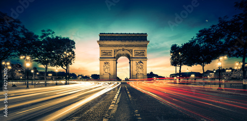 Poster Parijs Arc de Triomphe Paris France