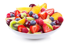 Salad With Fresh Fruits And Be...