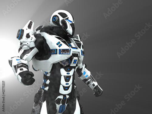 Fotografia, Obraz  Advanced super soldier