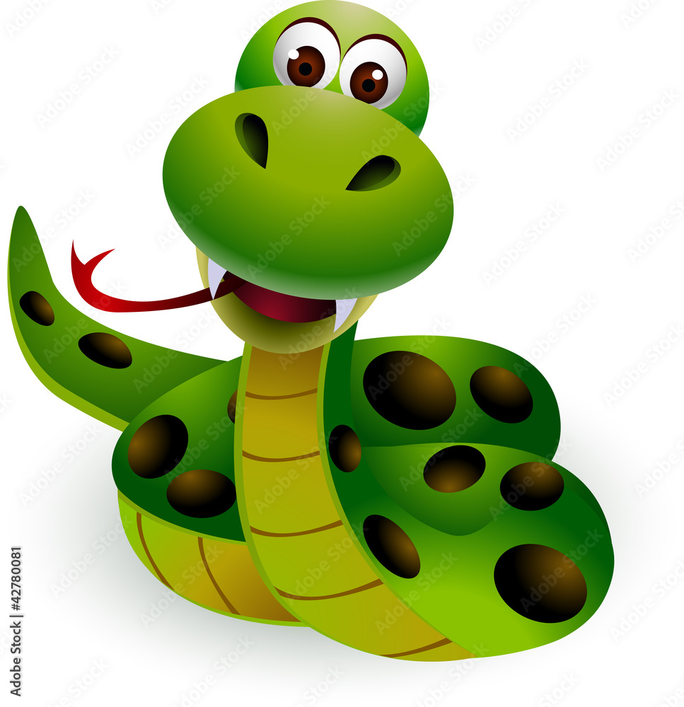 Fototapety, obrazy: cute snake cartoon