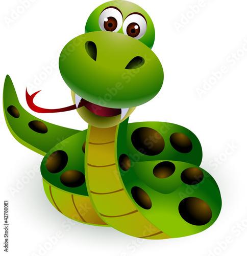 Obraz kreskówka węża - fototapety do salonu
