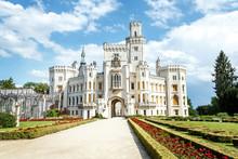 Famous White Castle Hluboka Na...