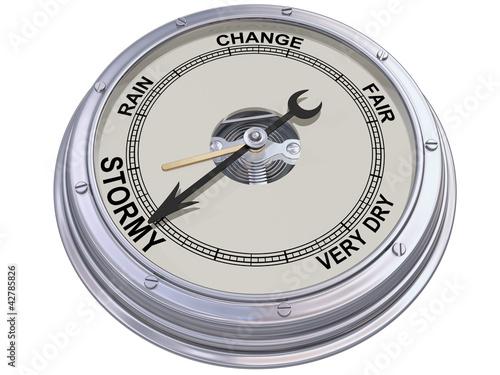 Photo Barometer indicating stormy weather