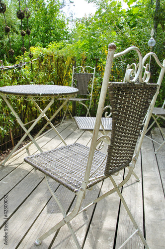 Mobilier de jardin - Buy this stock photo and explore ...