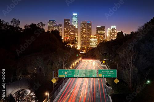 Photo  Lons Angeles city at night