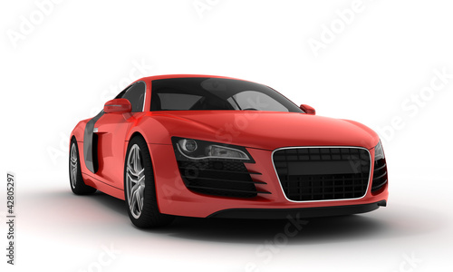 Photo Stands Fast cars red sportscar