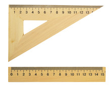 Wooden Triangle And Line